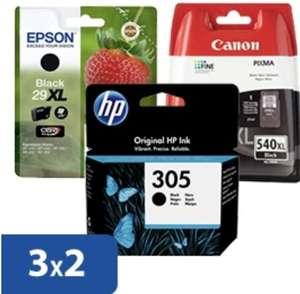 3x2 en cartuchos tinta HP Epson Canon