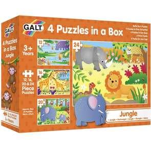 Puzzle progresivo -4 puzzles a partir de 3 años
