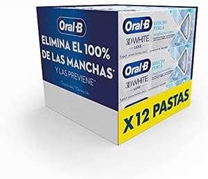 Oral-B 3DWhite Luxe Efecto Perla Pasta de Dientes Blanqueante, Pack de 12
