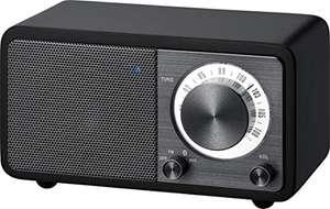 Radio de escritorio portátil Sangean WR-7 (sintonizador FM RDS, Bluetooth, entrada auxiliar, altavoz incorporado.