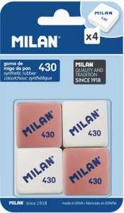 Milan - Pack de 4 gomas de borrar [Al Tramitar]