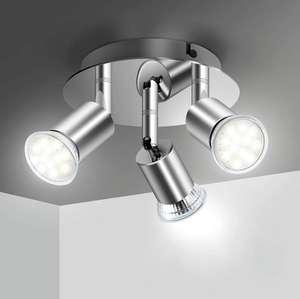 Lámpara de Techo LED con 3 Focos