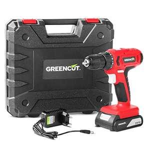 GREENCUT TD210L - Taladro atornillador perforador inalámbrico de batería de litio 21V, Herramienta 2 en 1 con luz LED