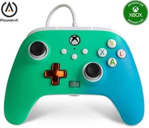 Mando con cable mejorado PowerA para Xbox: en Seafoam Fade (Como nuevo)