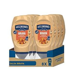 Hellmann's Salsa Brava Bocabajo - Pack de 8 x 250 ml