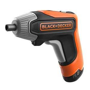 Atornillador BLACK+DECKER [3.6v, Incluye: 10 puntas, cargador rápido de 2ah y estuche de almacenamiento]