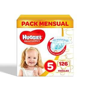 Pañales para bebé Huggies Ultra Comfort Talla 5 (11-25 kg) – 126 pañales (recurrente 0,16€/unidad))