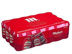 Mahou 5 Estrellas Cerveza Dorada Lager - Pack de 24 Latas