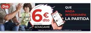 6 euros de descuento en día para socios Game