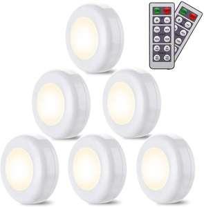 6 luces led infantiles con mando a distancia