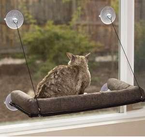 Silla con cojín para ventana para gatos chafarderos