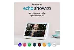 Echo Show 8(1ªGen) + Bombilla inteligente TP Link Tapo Wifi con luz regulable, control por voz y agenda-temporizador