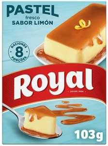 3 Royal Pastel Fresco Sabor Limón con Caramelo Líquido 8 Raciones, 103g