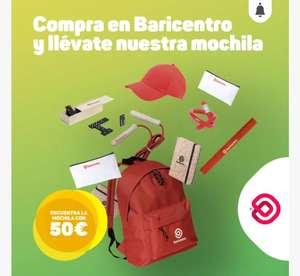CC Baricentro: gastando 40€ en cualquier tienda (pero una sola), te regalan una mochila llena de accesorios (leer descripción)