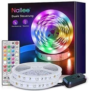 Tira LED 20M con IR Control Remoto,RGB 5050 Sincronización de Música