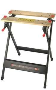 Black&Decker WM301-XJ Workmate - Banco de Trabajo, Bambú y Acero, Carga Máxima 160 kg