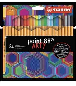 Estuche de 24 Rotuladores puntafina STABILO point 88 ARTY