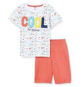 Pijama corto algodón mon P'tit Dodo infantil talla 8 años. Talla 3 años a 5,08€ y 4 años a 5,59€.