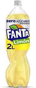 Fanta Limón Zero Azúcares - Refresco de limón, zero azúcares añadidos - Botella 2L