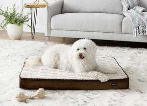 Cama para mascotas, espuma, tamaño grande, color marrón