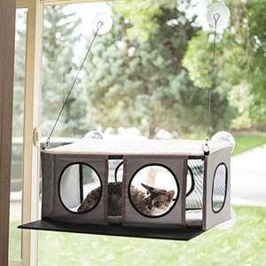 K&H Mascotas Casita para ventanas, cama para gatos en el umbral de la ventana