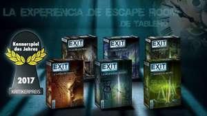 """Recopilación de Juegos de Mesa """"EXIT"""" en OFERTA en Amazon desde 11,97€"""