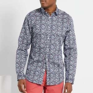 Camisa estampada slim de algodón para hombre tallas de la S a la XXL.
