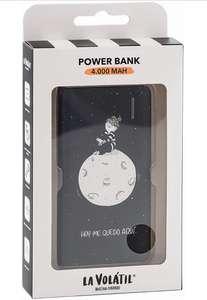 La Volátil Powerbank de 4.000 mAh color Negro; Capacidad de 2 a 3 Cargas