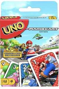 Juego de cartas UNO carreras de go-kart de Mario