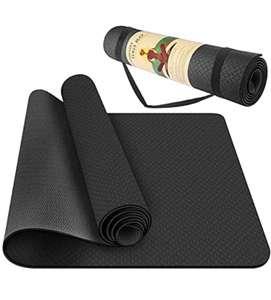 Alfombrilla de Yoga Profesional con Textura Antideslizante, (183 * 61 * 0.6 cm)…