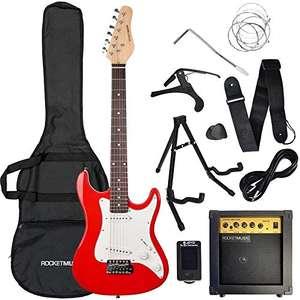 Conjunto de guitarra eléctrica de iniciación + Amplificador + extras