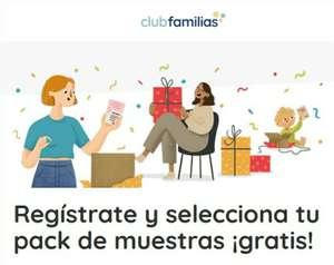 Pack de MUESTRAS GRATIS con Club Familias (varios packs a elegir)