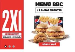 2x1 Menú bbc+ 2 alitas picantes (2 menús + alitas ) solo para domicilio