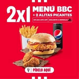 2x1 Menú bbc + 2 alitas picantes (2 menús + 4 alitas) solo para domicilio