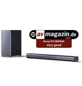 SHARP HT-SBW460, 3.1 Dolby Atmos, Barra Sonido, Sonido Envolvente Virtual 3D y subwoofer inalámbrico, Bluetooth, 4K, HDMI ARC/CEC, 440w