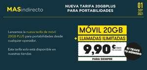 """TARIFA """"SECRETA"""" MÁSMÓVIL - 20GB e ilimitadas por 9,90€"""