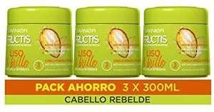 Pack Mascarilla Fructis Liso & Brillo 3 x 300 ml solo 7,88€ (2,62€ Unidad)
