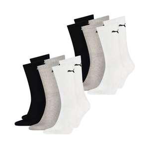 Seis pares calcetines largos Puma válidos 43-46. Más tallas y colores en descripción.