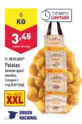 Patatas 6kg en Aldi