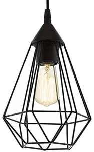 Reaco Muy buen estado, Lámpara de Suspensión Vintage con 1 Bombilla de Estilo Retro, Material Acero, Plástico
