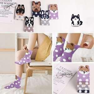 Pack de 5 pares de calcetines con dibujos animados talla 35-42