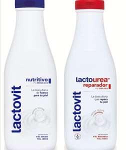 Lactovit - Gel de Baño, Gel Nutritivo, Delicado y Sofisticado o Reparador Lactourea - 600 ML