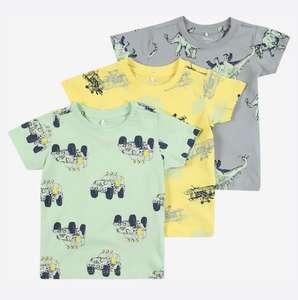Pack tres camisetas algodón Name It infantil tallas en cms. de 56 a 74.