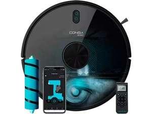 Robot aspirador - Cecotec Conga 6090 Ultra, 10000 Pa, 240 min, 64 dB, APP Control, Room Plan 2.0, Negro