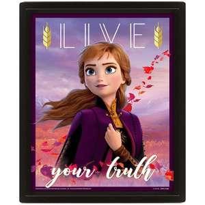 Cuadro 3D Disney Frozen II Elsa & Anna