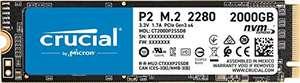 Crucial P2 SSD 2TB M.2 PCIe Gen3 NVMe