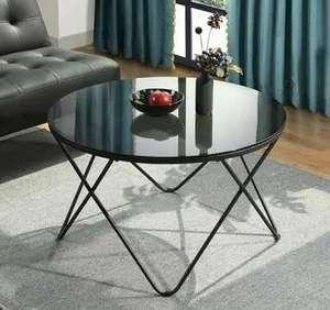 Mesa de centro de cristal 80x80x48 cm (envío gratis)