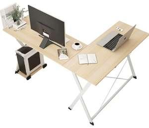 También color Negro   Escritorio de esquina mesa ordenador oficina 158x120x72.5cm (color madera/blanco o todo negro)