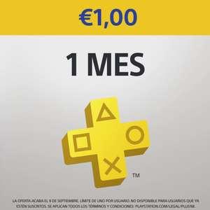 PlayStation Plus :: 1 mes a 1€ (cuentas nuevas o sin suscripción activa)