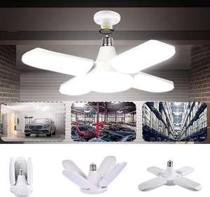 Luz de techo plegable con 4 paneles ajustables